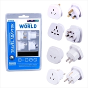 Laser Travel Adaptor 4 Pack With Bonus Pouch | Accessories
