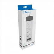 Laser Smart 4 Outlet Powerboard with 2 x USB | Accessories