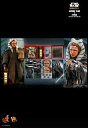 "Star Wars: The Mandalorian - Ahsoka Tano and Grogu 1:6 Scale 12"" Action Figure Set   Merchandise"