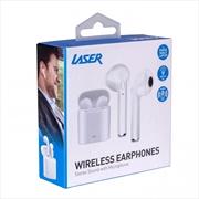 Laser Airbud Wireless - White   Accessories