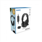 Laser Headset With Boom Mic - Black | Accessories