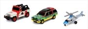 Jurassic Park - Nano Hollywood Ride 3-Pack | Merchandise