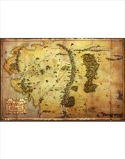 Hobbit Map Tolkien Poster: | Merchandise