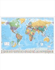 World Map With Flags Poster | Merchandise