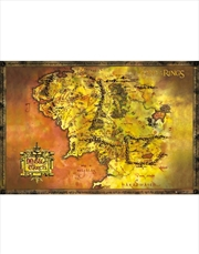 Lord Of The Rings Map Tolkien Poster | Merchandise
