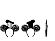 Loungefly - Mickey Mouse - Steamboat Willie Hat Rope Piping Ears Headband   Merchandise