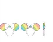 Loungefly - Mickey Mouse - Minnie Sequin Rainbow Ears Headband | Merchandise