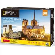 National Geographic - Paris Notre Dame 3D Puzzle - 128 Piece | Merchandise