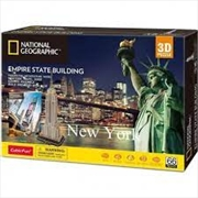 National Geographic - New York Empire State Building Puzzle  66 Piece | Merchandise