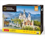 National Geographic Germany Neuschwanstein Castle - 128 Piece | Merchandise