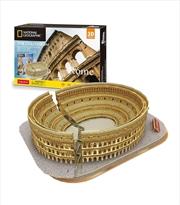 National Geographic Rome Colosseum 3D Puzzle 131 Piece | Merchandise