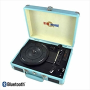 Bluetooth Suitcase Style Record Player - Turquoise   Hardware Electrical