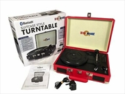 Bluetooth Suitcase Style Record Player - Red   Hardware Electrical
