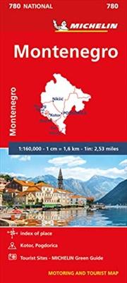Michelin Montenegro Road and Tourist Map No 780 (Michelin Road and Tourist Map) | Sheet Map