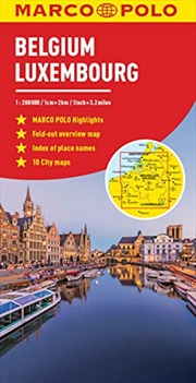 Belgium and Luxembourg Marco Polo Map (Marco Polo Maps) | Sheet Map