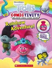 Rainbow Adventure! (Trolls: Comictivity)   Paperback Book
