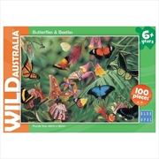 Butterflies And Beetles Wild Australia 100 Piece Puzzle | Merchandise