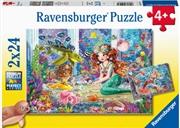 Mermaid Tea Party  2 X 24 Piece Puzzle   Merchandise