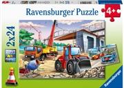 Construction And Cars 2 X 24 Piece Puzzle   Merchandise