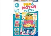 Mix Up Monsters 3 X 24 Piece Puzzle   Merchandise