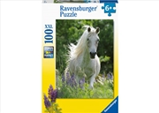 Horse In Flowers Puzzle 100pc   Merchandise