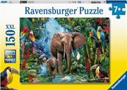 Elephants At The Oasis 150 Piece Puzzle   Merchandise