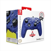 PDP Switch Faceoff Deluxe + Audio Wired Controller Blue Camo | Nintendo Switch