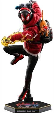 "Marvel's SpiderMan: Miles Morales - Miles Morales Bodega Cat Suit 1:6 Scale 12"" Action Figure | Merchandise"