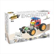 Construct-It! - Excavator 117-Piece Metal Building Set | Toy