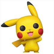 Pokemon - Pikachu Waving Diamond Glitter US Exclusive Pop! Vinyl [RS] | Pop Vinyl