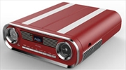 Retro Radio Turntable - Red | Hardware Electrical