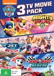 Paw Patrol - Mighty Pups / Ready Race Rescue / Jet To The Rescue - Limited Edition | TV Movie Triple | DVD