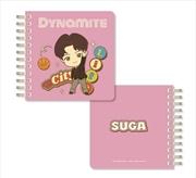BTS Tinytan - Dynamite Spiral Notebook - Suga | Notebook