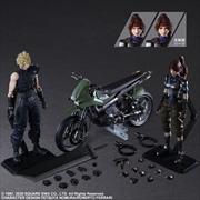 Final Fantasy VII - Jessie, Cloud & Motorcycle Play Arts Action Figure | Merchandise