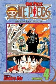 One Piece Vol. 4: The Black Cat Pirates   Paperback Book