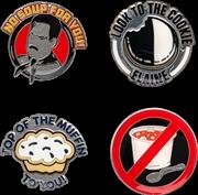 Seinfeld Food Enamel Pin 4pk | Merchandise