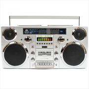 Boombox Silver Bluetooth Speak   Hardware Electrical