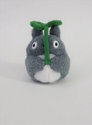 Studio Ghibli Plush: My Neighbor Totoro - Fluffy Totoro Beanbag with Leaf | Toy