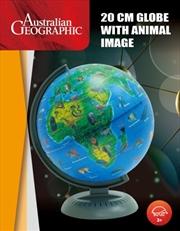 Australian Geographic 20cm World Globe With Animal Image | Toy