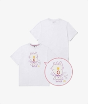 BTS SAUCY -  RM White Tshirt - Medium   Apparel