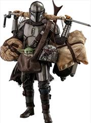Star Wars: The Mandalorian - Mandalorian & Grogu Deluxe 1:6 Scale Action Figure Set   Merchandise
