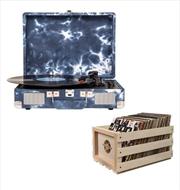 Crosley Cruiser Bluetooth Portable Turntable with Storage Crate - Indigo | Hardware Electrical