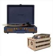 Crosley Cruiser Bluetooth Portable Turntable with Storage Crate - Navy | Hardware Electrical