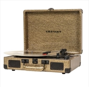 100th Anniversary Crosley Cruiser Bluetooth Portable Turntable - Gold | Hardware Electrical