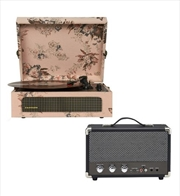 Floral Crosley Voyager Bluetooth Portable Turntable with Speaker | Hardware Electrical