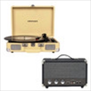 Crosley Cruiser Bluetooth Portable Turntable with Speaker - Fawn | Hardware Electrical