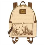 Loungefly - Pokemon - Sepia Pikachu Mini Backpack | Apparel