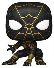 "Spider-Man: No Way Home - Spider-Man Black & Gold US Exclusive 10"" Pop! Vinyl [RS] | Pop Vinyl"