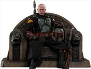 "Star Wars: The Mandalorian - Boba Fett on Throne 1:6 Scale 12"" Action Figure   Merchandise"