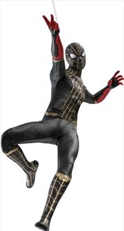 "Spider-Man: No Way Home - Spider-Man Black & Gold Suit 1:6 Scale 12"" Action Figure | Merchandise"